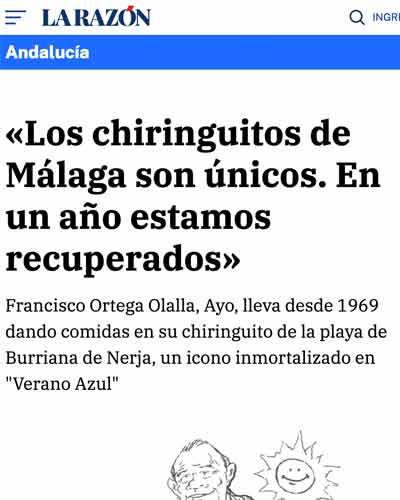 Los chiringuitos de Málaga son únicos. En un año estamos recuperados